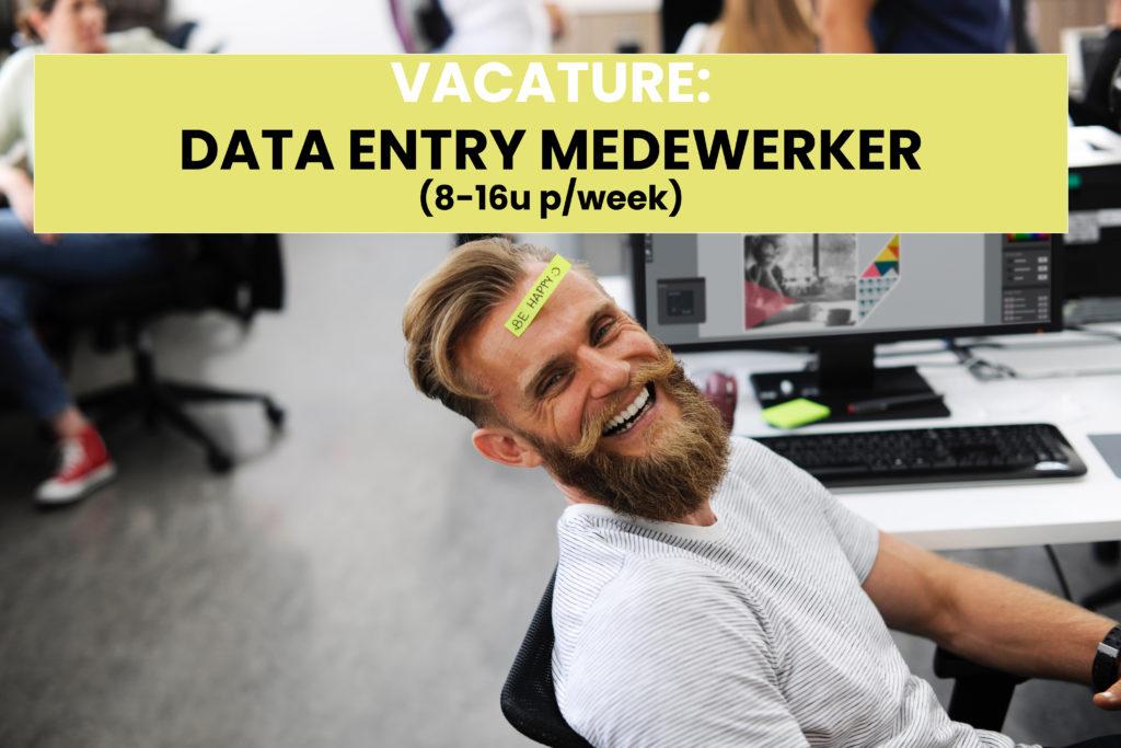 Vacature Data Entry Medewerker